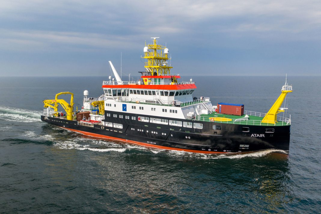 Fassmer surveying, wreck search and research vessel ATAIR