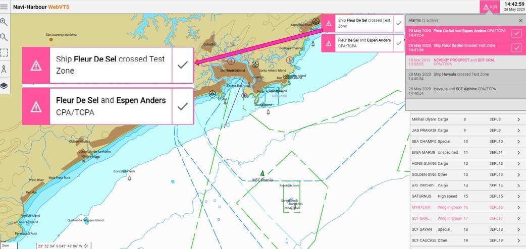 Wärtsilä Navi-Harbour WebVTS 5.0 software application