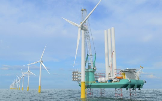 Equipped with Kongsberg Maritime systems, OIM Wind's new vessel will, on completion, be capable of sustainably transporting and installing multiple sets of next-generation wind turbines