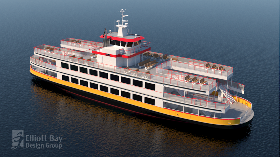 Casco Bay Lines new ferry will feature ABB's hybrid-electric power and propulsion solutions. Image credit: EBDG