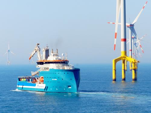 Ocean Breeze on the Bard Offshore 1 wind farm